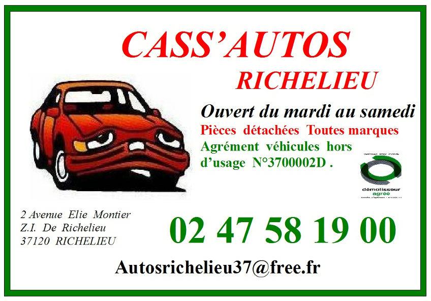 CASSE AUTOS RICHELIEU Casse Autos 37 Dmolisseur Agr VHU